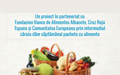 Parohia Ortodoxă Română din Albacete distribuie printr-un parteneriat un pachet cu alimente săptămânal