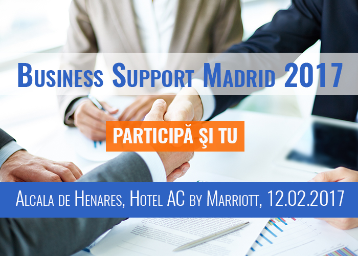 Participă și TU la marele eveniment Business Support Madrid 2017