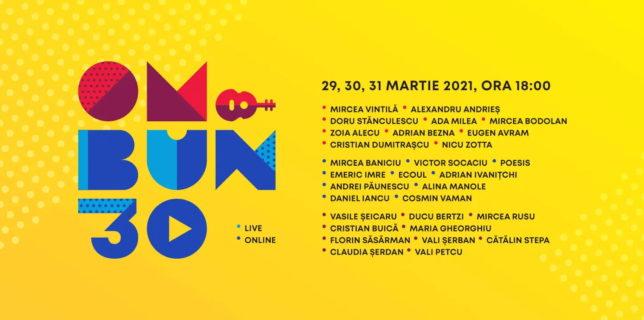 """Participă la Festivalul Folk """"Om Bun 30"""" – live online (29 – 31 martie 2021)"""