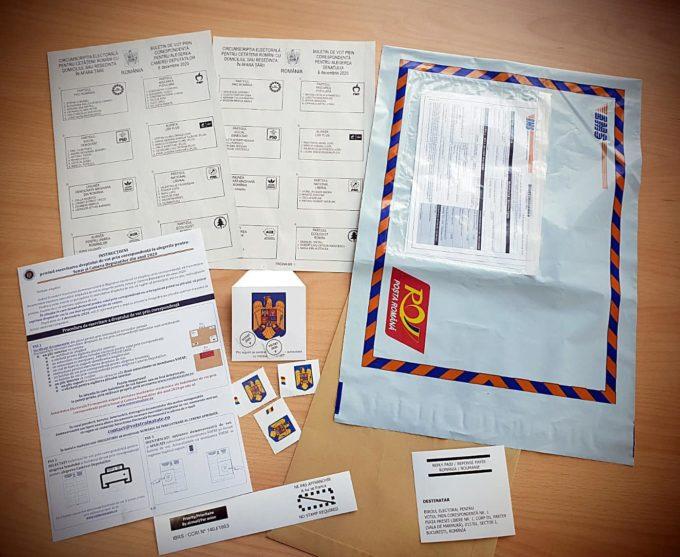 Plicul cu buletinele de vot trebuie să ajungă la biroul electoral pentru votul prin corespondență până la data de 3 decembrie 2020
