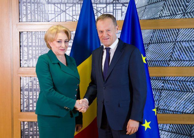 Premierul Dăncilă - întrevedere cu Donald Tusk; a reiterat sprijinul României pentru consolidarea proiectului european