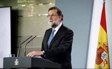 Premierul spaniol, Mariano Rajoy, anunță dizolvarea Parlamentului catalan și convocarea de alegeri în regiune pe 21 decembrie