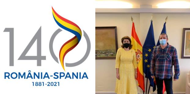 """Prezentarea logo-ului câștigător """"140 ani de relații diplomatice România-Spania"""""""