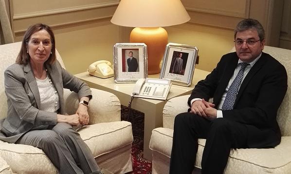 Primirea ambasadorului român de către Ministrul spaniol al Dezvoltării, în vizită de rămas-bun, cu ocazia finalizării mandatului în Spania