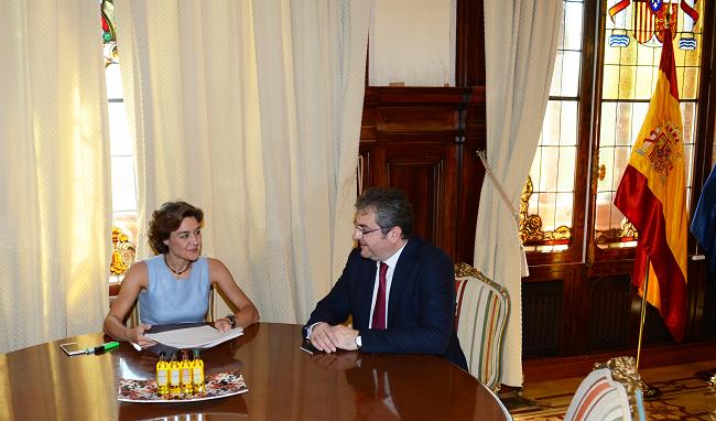 Primirea ambasadorului român de către ministrul spaniol al agriculturii, în vizită de rămas bun, cu ocazia finalizării mandatului în Spania