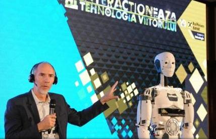 Primul robot umanoid printat 3D, expus în premieră în România la Bucharest Technology Week 2017
