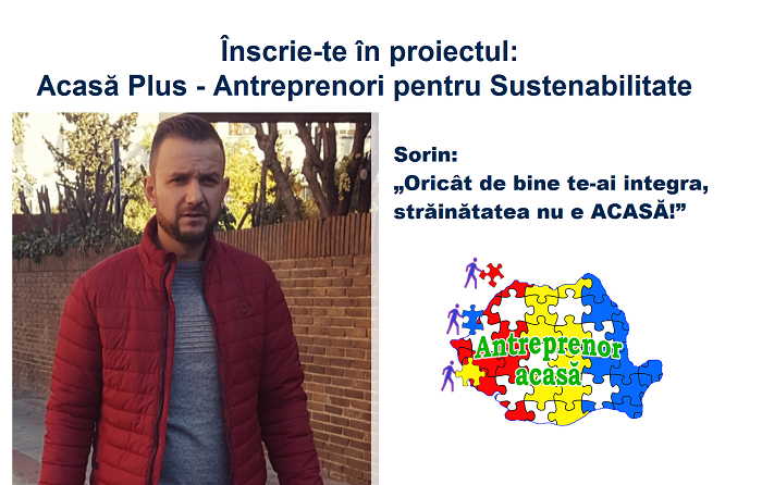 Proiect ACASĂ PLUS:Sorin Șapceas-a înscris pentru șansa de a-și schimba viața în bine