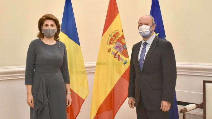 Reuniune a ambasadorului cu ministrul spaniol al Justiției. S-a discutat și despre dubla cetățenie română și spaniolă