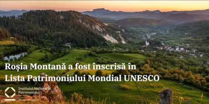 Roşia Montană în Patrimoniul UNESCO/ Institutul Naţional al Patrimoniului: O realizare şi un început de drum