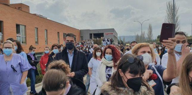Rodríguez Palacios participa en el acto en memoria del sanitario asesinado en el Hospital Príncipe de Asturias