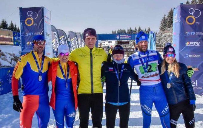 România a câştigat patru medalii la Campionatele Europene de Winter Triathlon de la Cheile Grădiştei