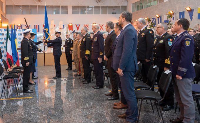 România a preluat, în premieră, comanda grupării navale permanente a NATO de luptă contra minelor