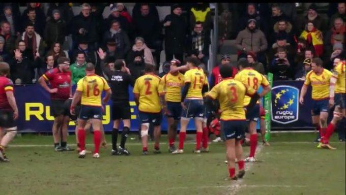 Rugby: Spaniolii au acuzat arbitrajul românului Vlad Iordăchescu la meciul cu Belgia