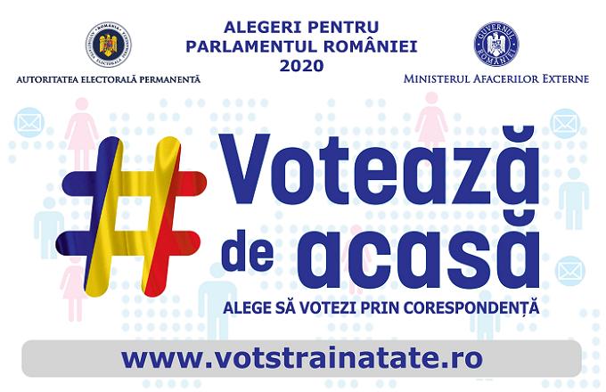 S-a prelungit până la 22 octombrie 2020 perioada în care românii din afara țării se pot înregistra pe portalul www.votstrainatate.ro cu opțiunea pentru votul prin corespondență