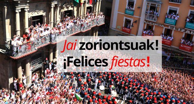 San Fermin, festivalul anual dedicat curselor cu tauri, a început sâmbătă la Pamplona