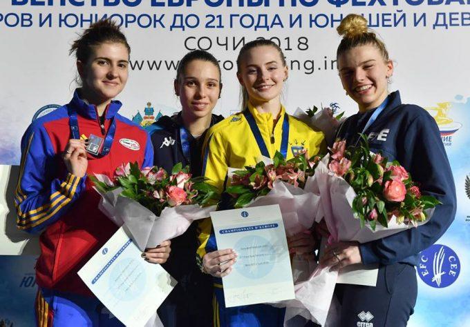 Scrimă: Alexandra Predescu, medaliată cu argint în proba de spadă la Europenele de juniori
