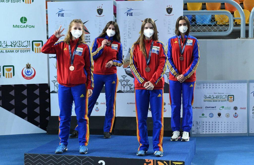 Scrimă: Echipa feminină de sabie a României, medaliată cu bronz la Mondialele de juniori