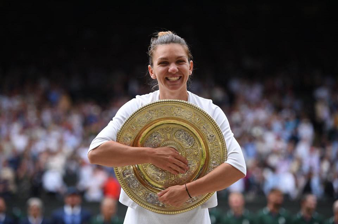 Simona Halep, a douăsprezecea jucătoare care câştigă turneul de la Wimbledon la prima sa finală