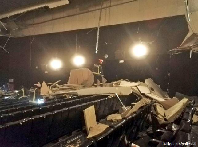 Spania: Șase persoane ușor rănite după prăbușirea acoperișului unui cinematograf