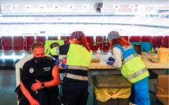 Spania: Lansare a unei campanii de 'vaccinare în masă' pentru poliţişti şi pompieri pe stadionul lui Atletico Madrid