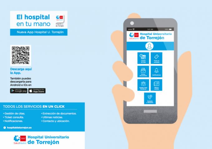 Spitalul din Torrejón lansează o nouă aplicație APP pentru îmbunătățirea experienței pacientului