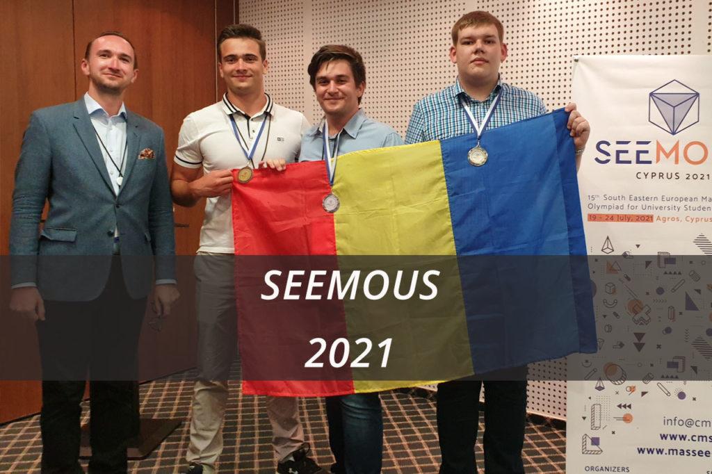 Succes al studenților UPB la Olimpiada Internațională de Matematică pentru Studenți - SEEMOUS2021