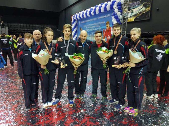Tenis de masă: O medalie de argint şi două de bronz pentru România, la Europenele Under-21