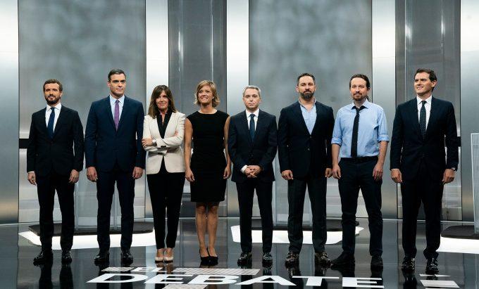 ''Toţi contra toţi'' sau cum a arătat unica dezbatere electorală televizată din Spania (EFE)