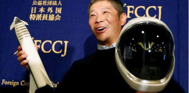 Un miliardar japonez caută opt persoane pentru a-l însoţi într-o călătorie în jurul Lunii