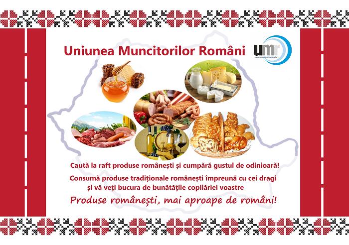 Uniunea Muncitorilor Români desfășoară o Campanie de promovare a produselor românești