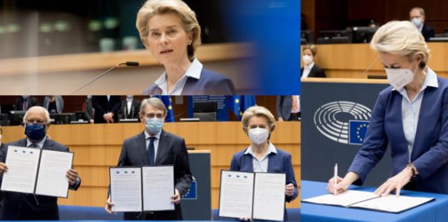 VIDEO Declaraţia comună asupra Conferinţei privind viitorul Europei semnată de liderii principalelor instituţii UE
