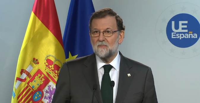 """VIDEO: Rajoy, en Bruselas: """"volver a la legalidad y recuperar la normalidad constitucional"""""""