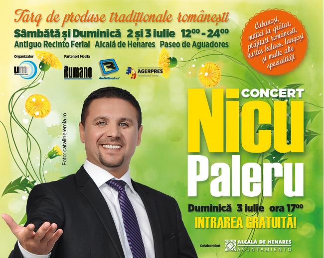 Vino și petrece românește în cadrul unui concert extraordinar cu Nicu Paleru