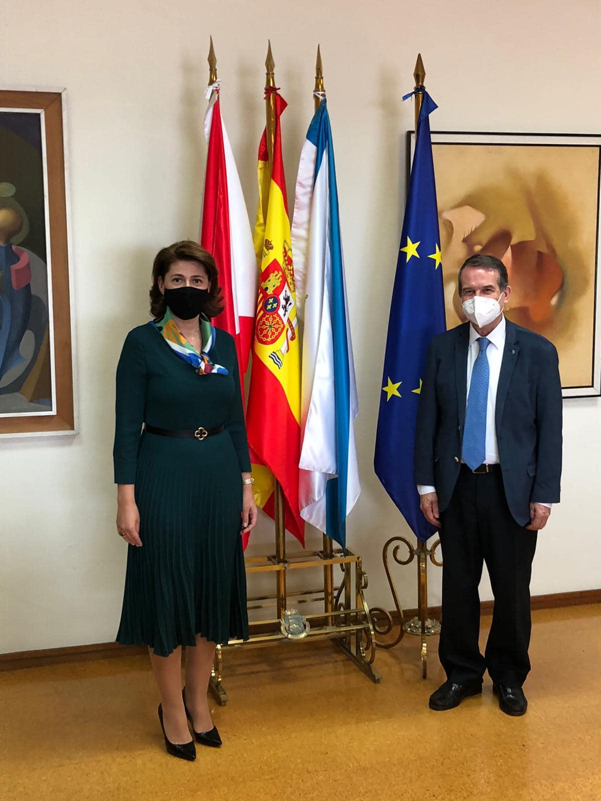 Vizită de lucru a ambasadorului român în Spania, Gabriela Dancău, în regiunea Galicia 1