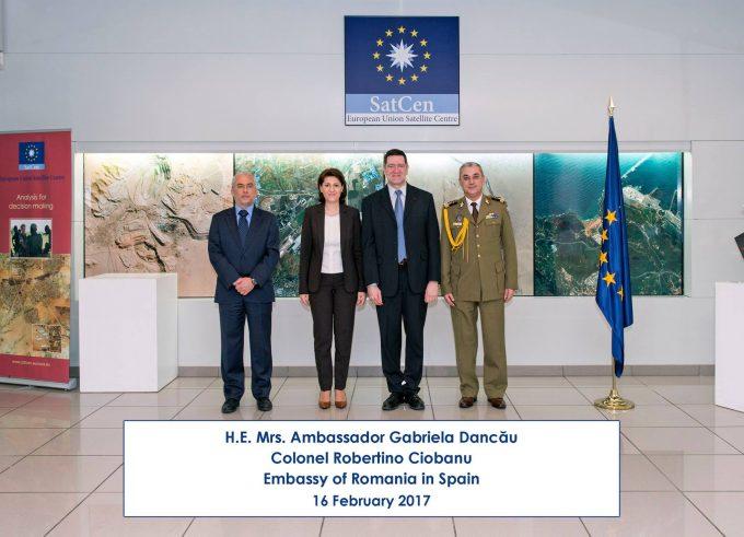 Vizita Ambasadorului României la Centrul Satelitar al UE de la Torrejón de Ardoz