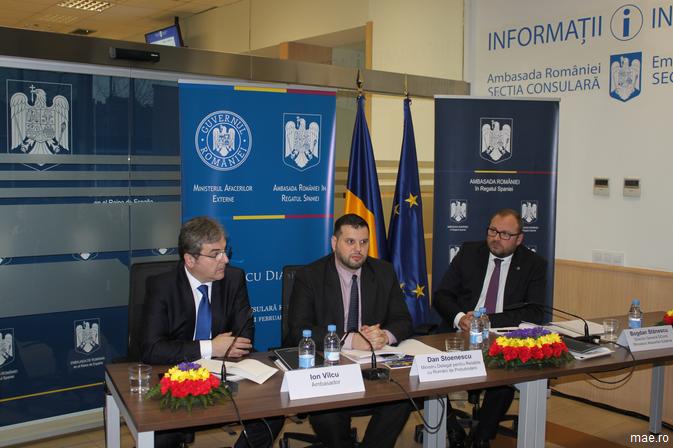 Vizita ministrului delegat pentru Relațiile cu Românii de Pretutindeni, Dan Stoenescu, în Regatul Spaniei