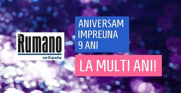 Ziarul Românilor din Spania, Periódico El Rumano.es împlinește 9 ANI: LA MULȚI ANI!