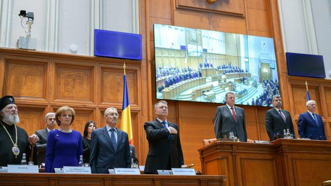 Şedinţă solemnă/ Parlamentul a adoptat Declaraţia consacrată marcării a 30 de ani de la Revoluţia din 1989