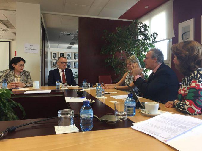 Întrevederea Preşedintelui Consiliului Naţional al Rectorilor, Sorin Mihai Cîmpeanu, cu președintele Conferinței Rectorilor din Universitățile Spaniole, Segundo Píriz Durán
