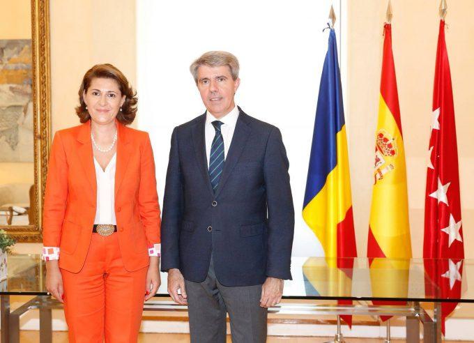 Întrevederea ambasadorului României în Regatul Spaniei cu Președintele Comunității Autonome Madrid, Ángel Garrido García