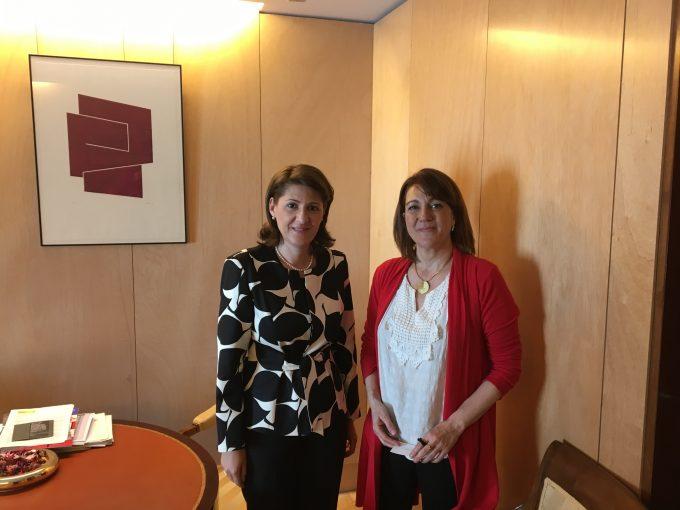 Întrevederea ambasadorului României în Spania cu deputata Soraya Rodríguez Ramos, președinta Comisiei mixte pentru Uniunea Europeană din Parlamentul spaniol
